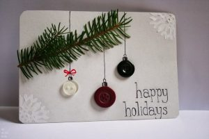 Pine and Button Ornaments